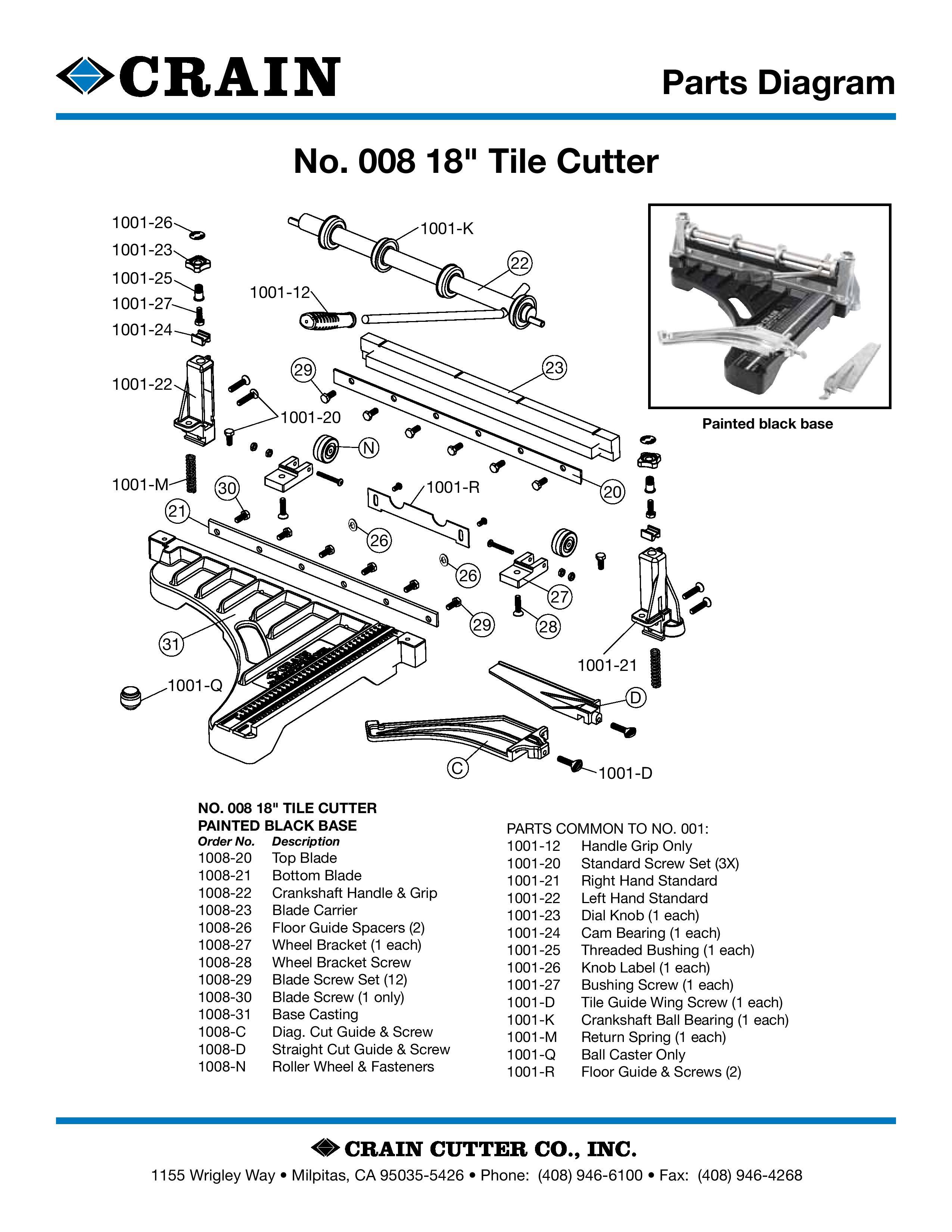 """18"""" Vinyl Special Tile Cutter - Current Model"""