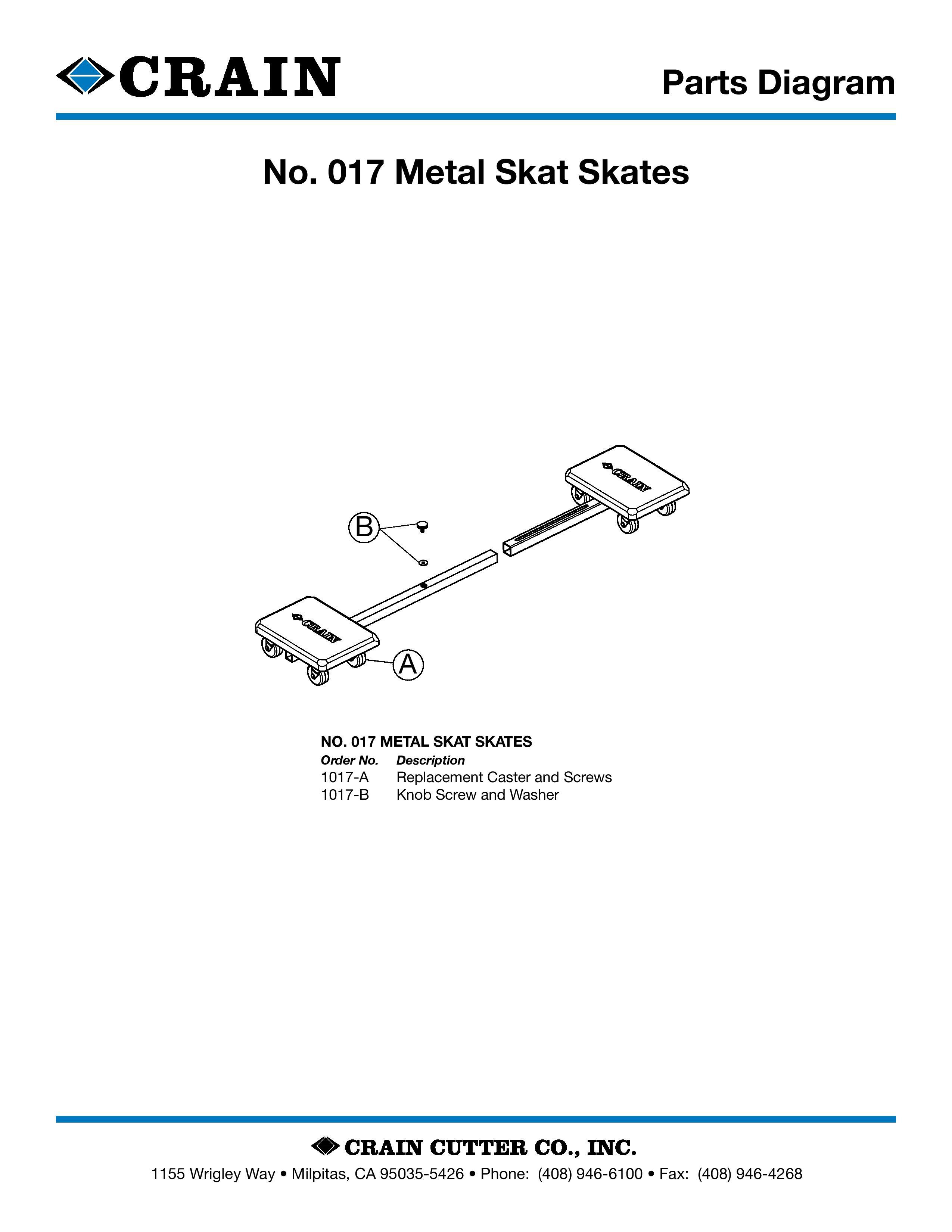 No. 017 Metal Skat Skates