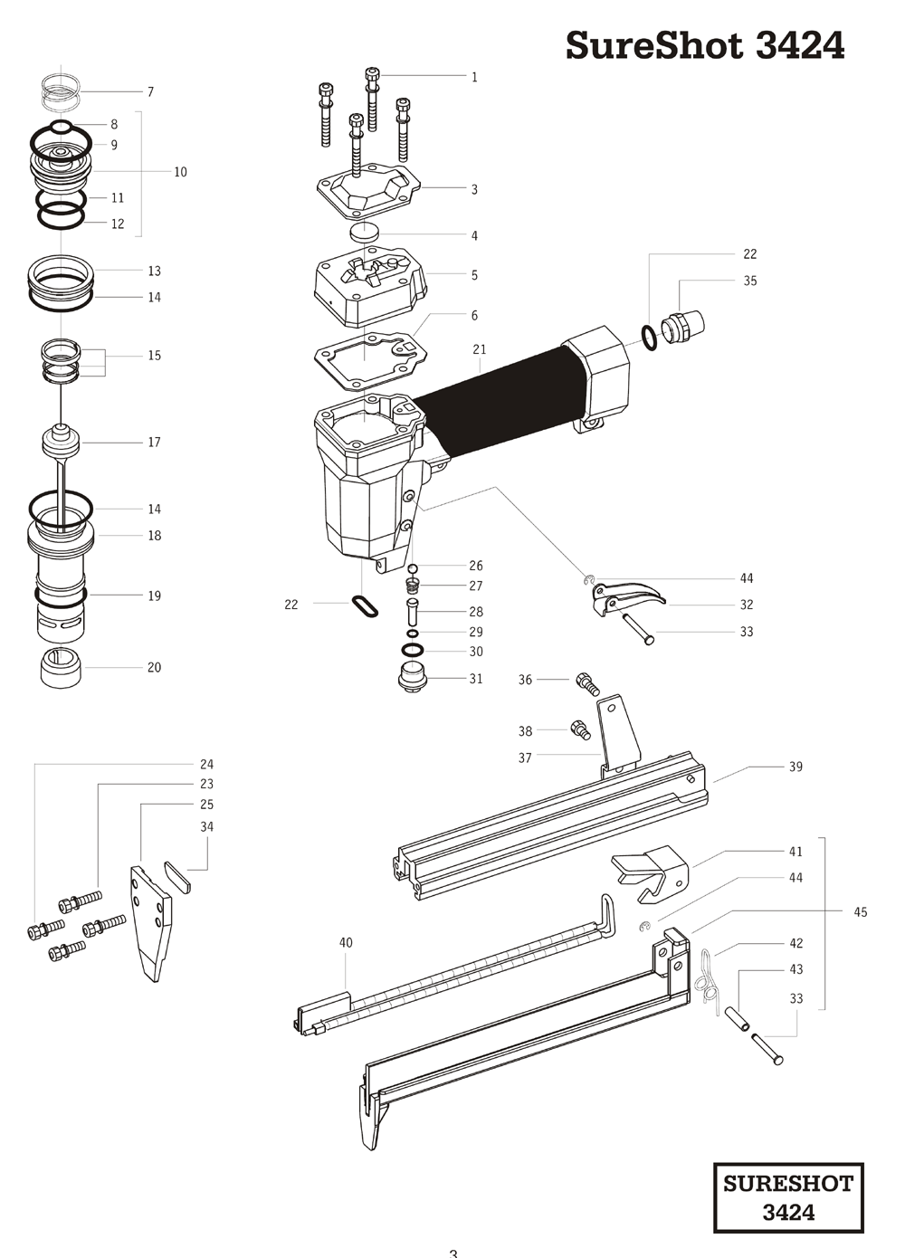 Duo-Fast 3424 Parts