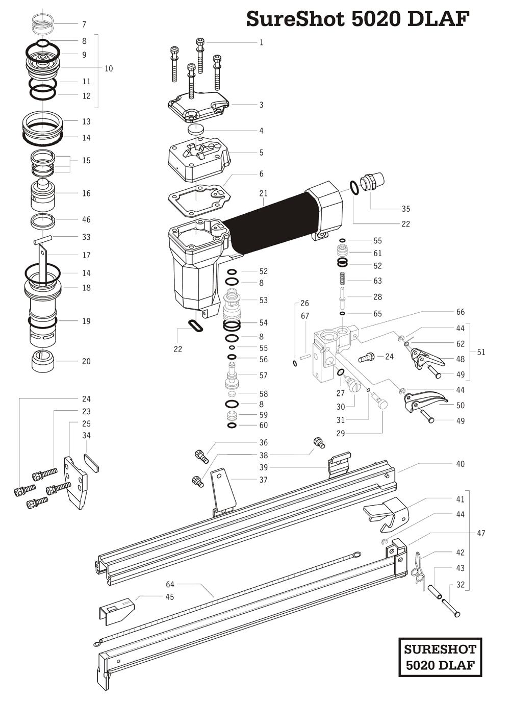 Duo-Fast 5020DLAF Parts