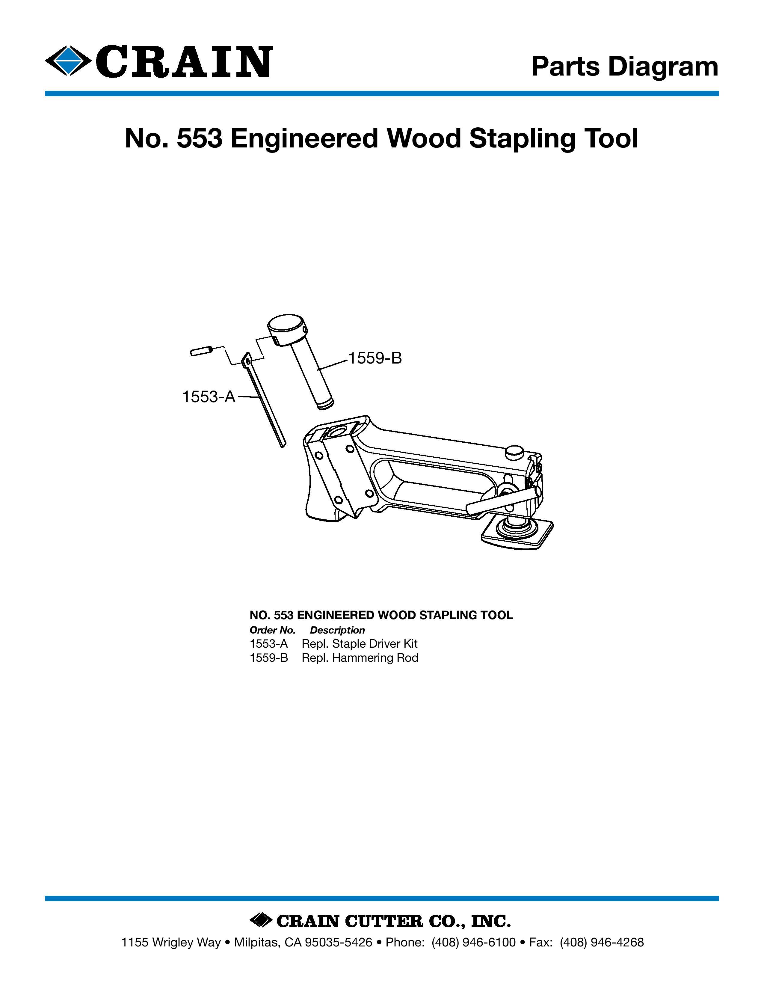 553 Engineered Wood Stapling Tool