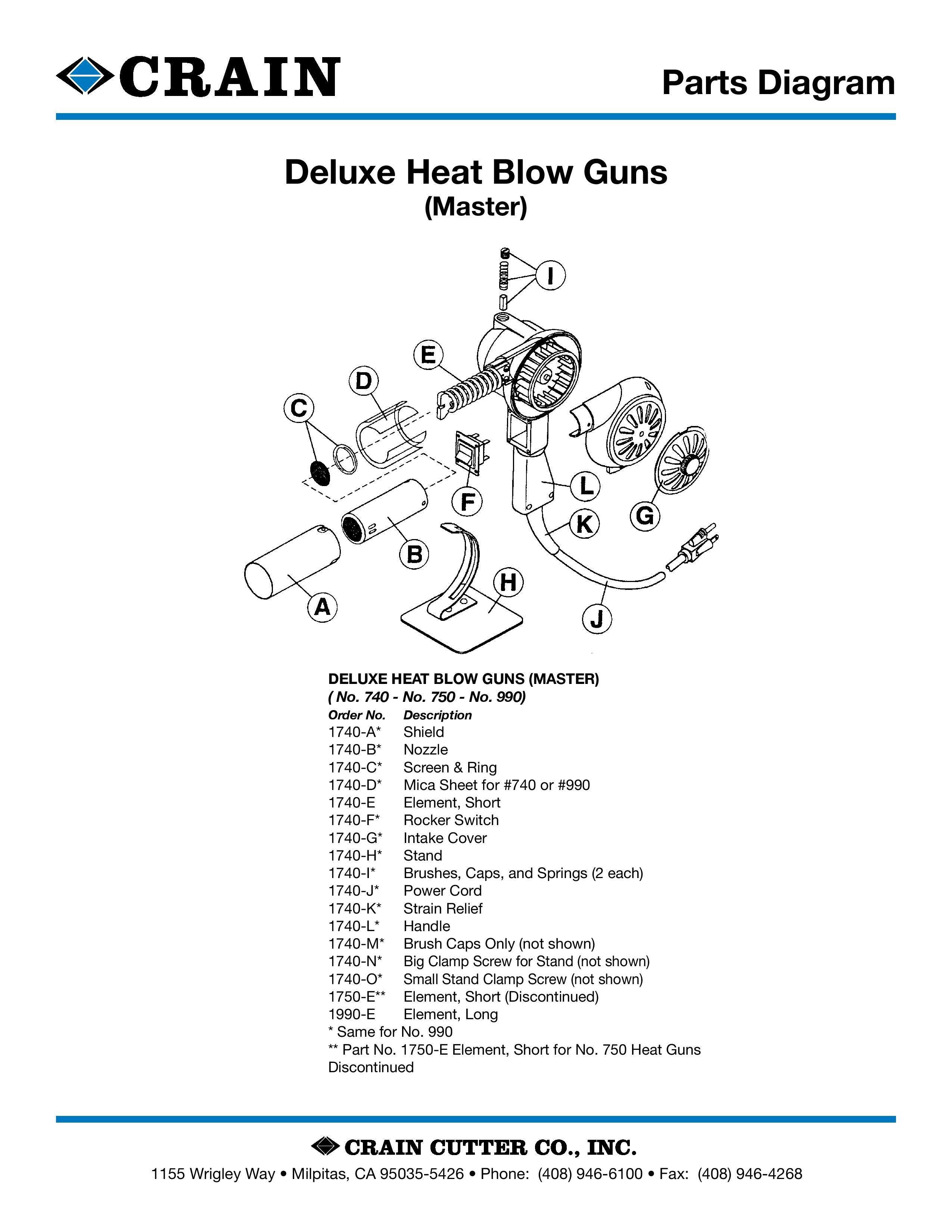 990 Deluxe 1000 Degree Heat Gun