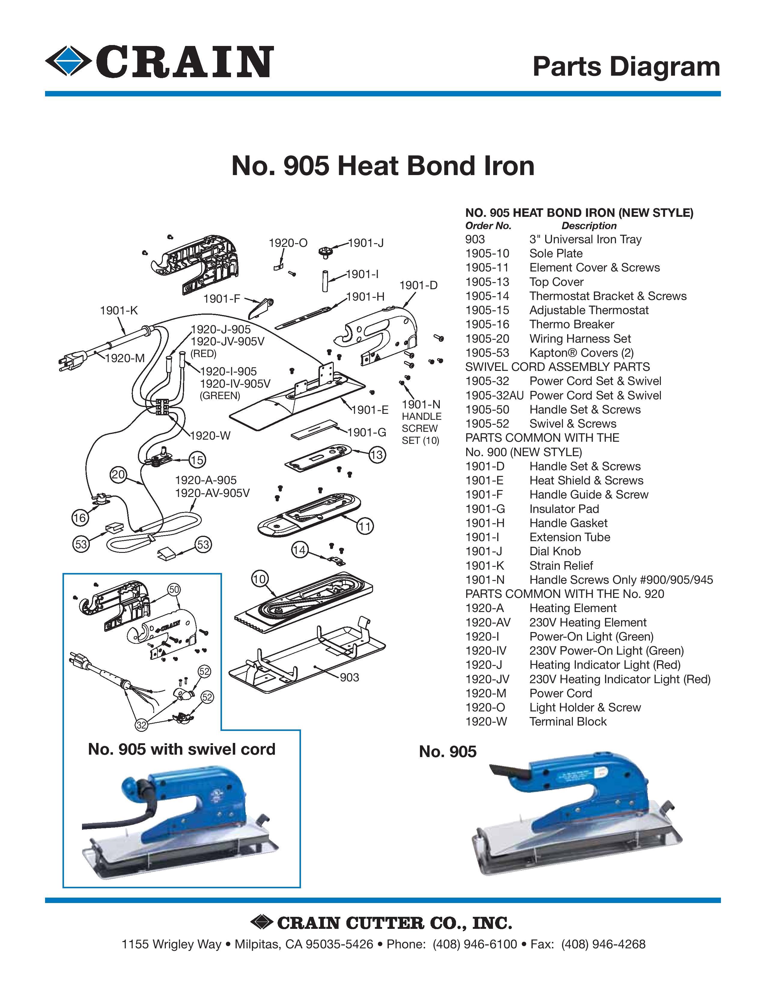 905 Heat Bond Iron