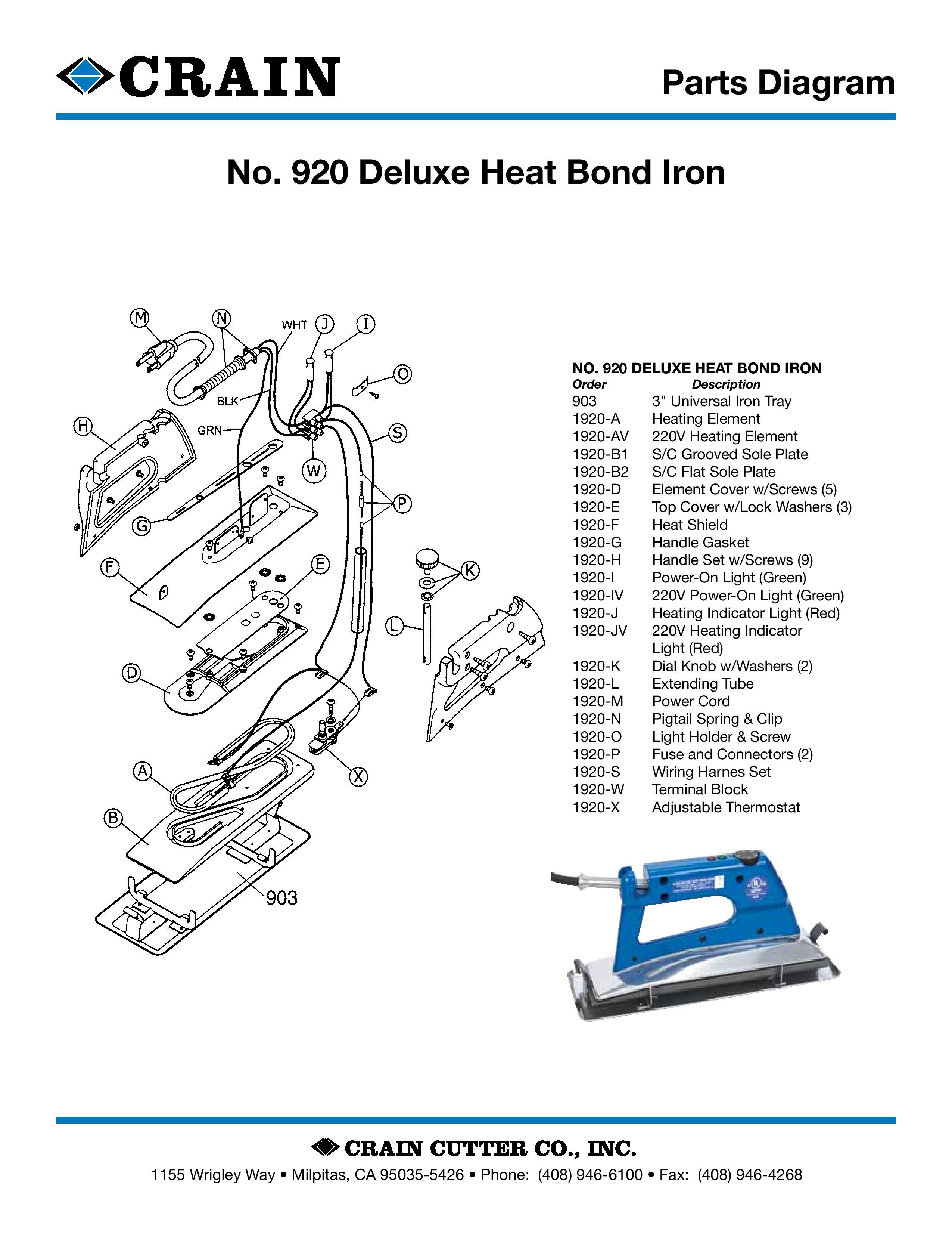 920 Deluxe Heat Bond Iron