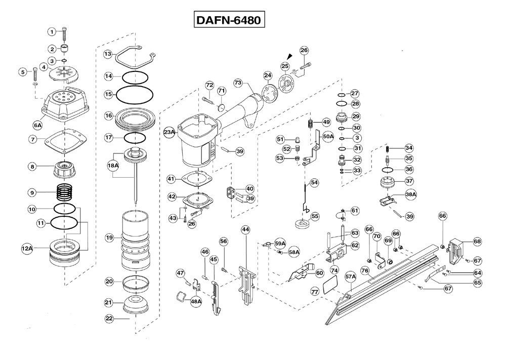 Duo-Fast DAFN-6480 Parts