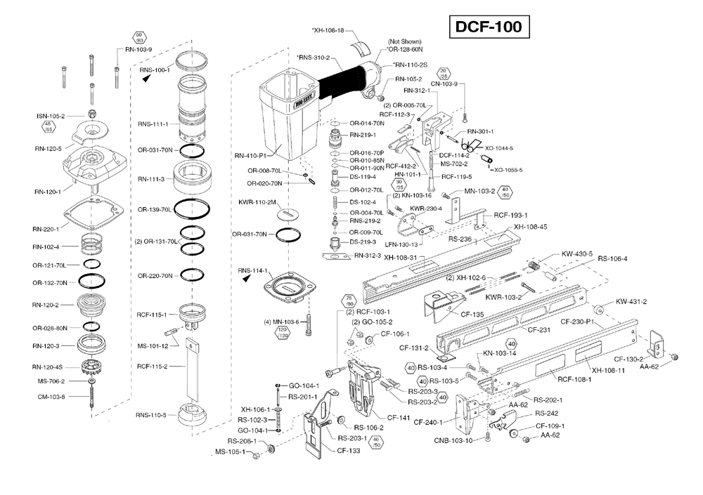 Duo-Fast DCF-100 Parts
