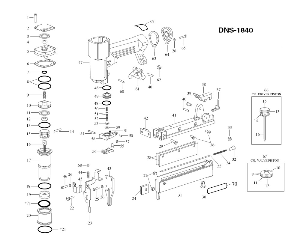 Duo-Fast DNS-1840 Parts