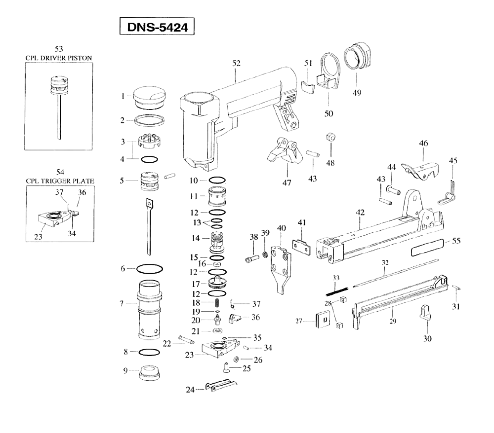 Duo-Fast DNS-5424 Parts