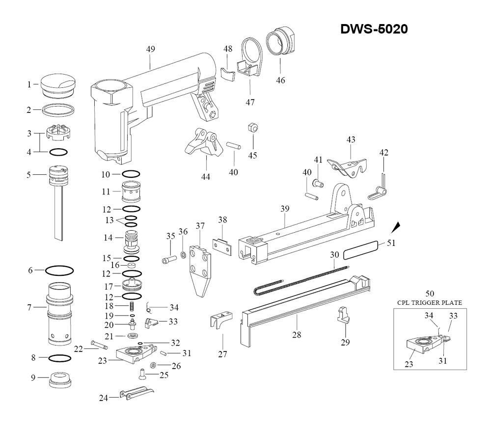 Duo-Fast DWS-5020 Parts