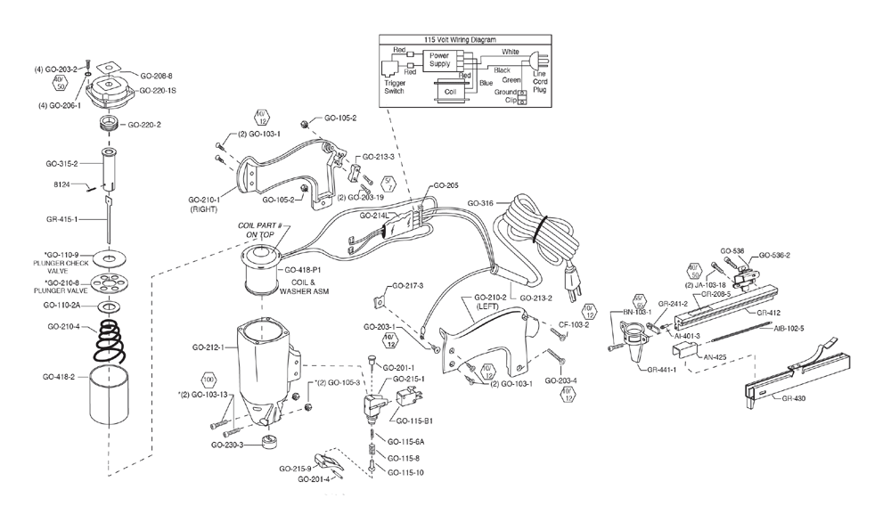 Duo-Fast ENC-5418A Parts