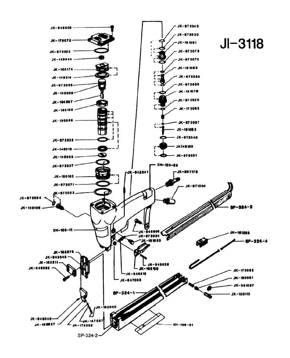 Duo-Fast JI-3118 Parts