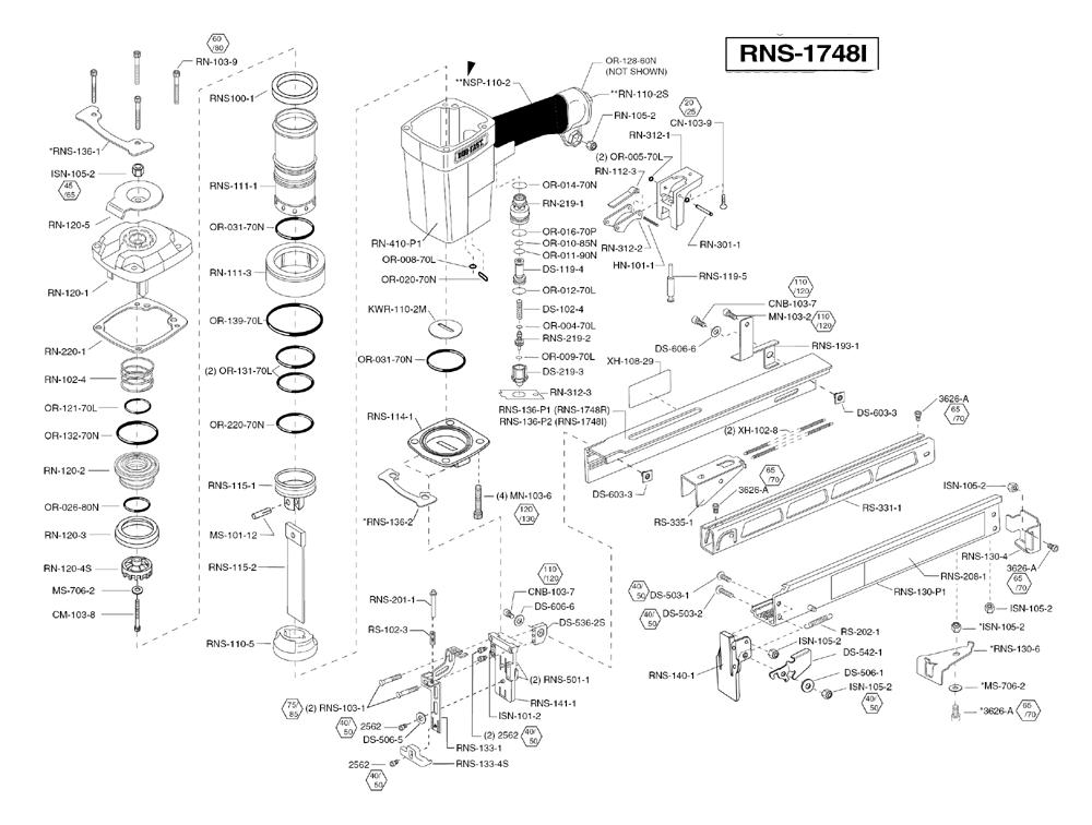Duo-Fast RNS-1748I Parts