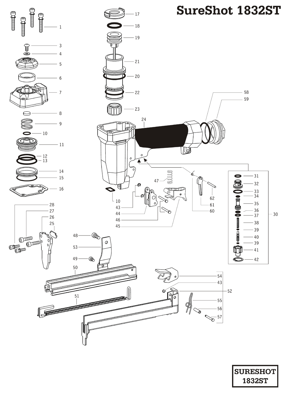 Duo-Fast SS-1832ST Parts