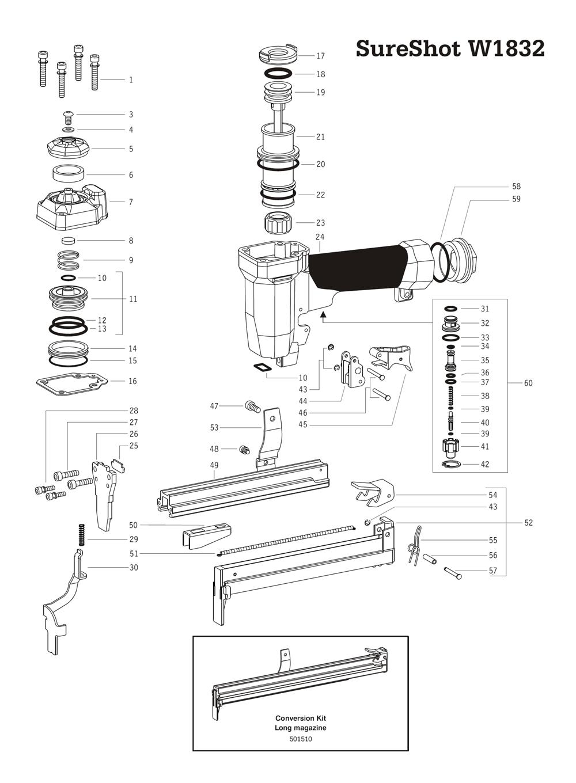 Duo-Fast SureShot-W1832 Parts