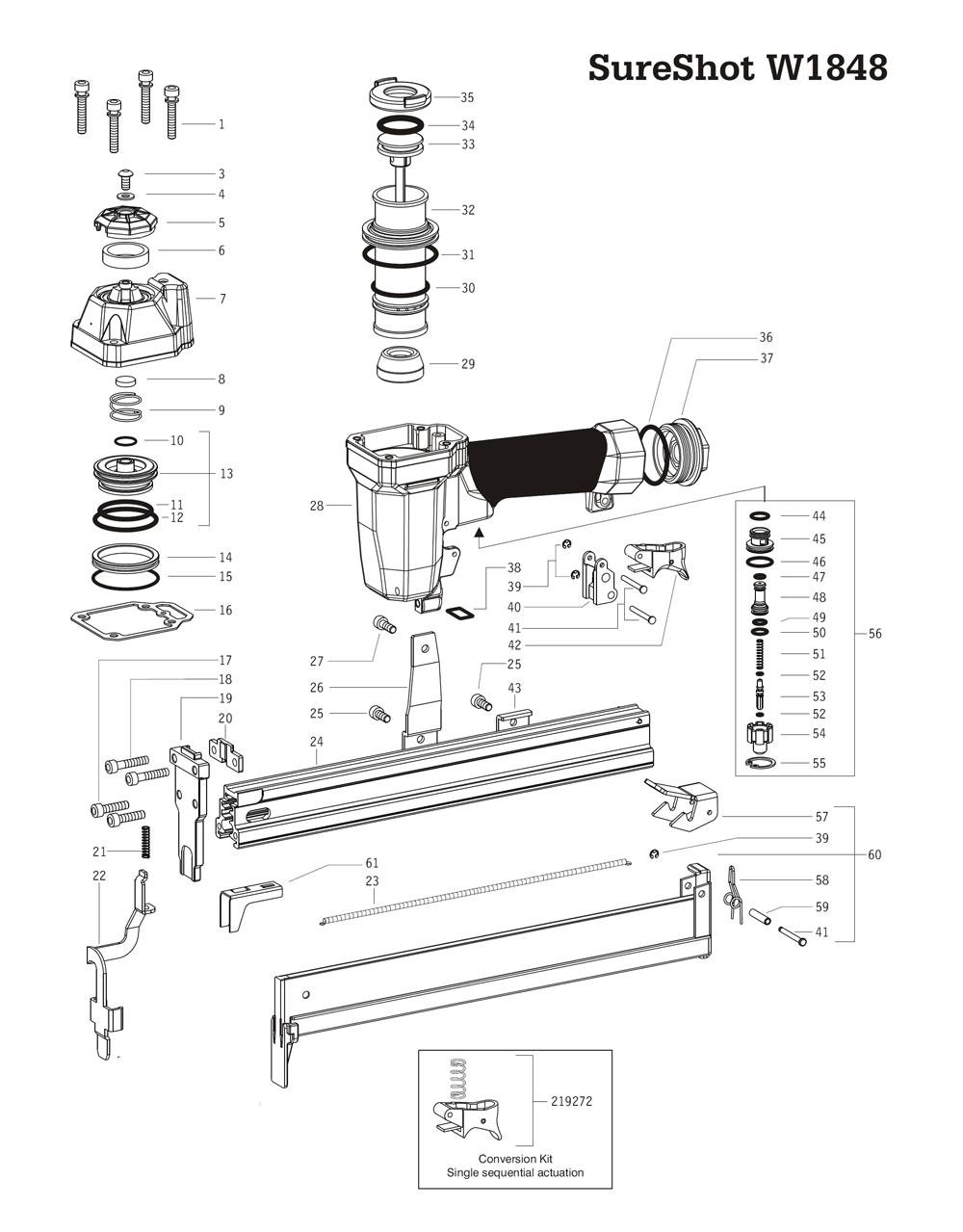 Duo-Fast SureShot-W1848 Parts
