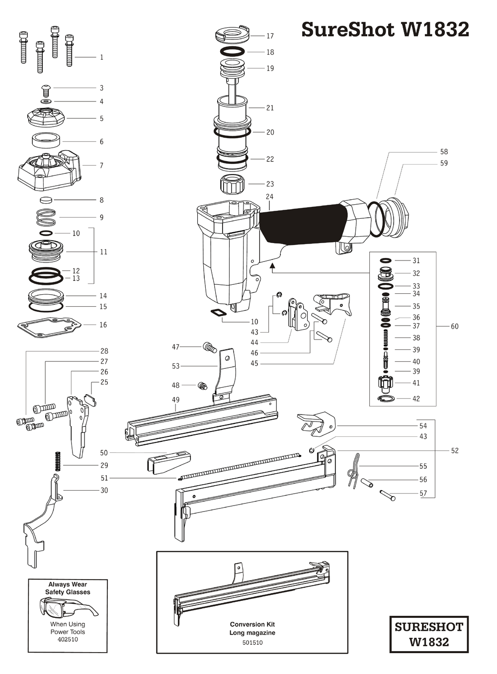 Duo-Fast W1832 Parts