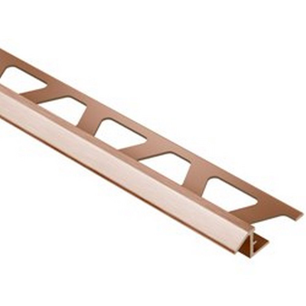 "Schluter Reno-TK ATK80-AKGB 5/16"" Brushed Copper/Bronze Anodized Aluminum Reducer Edge Trim"
