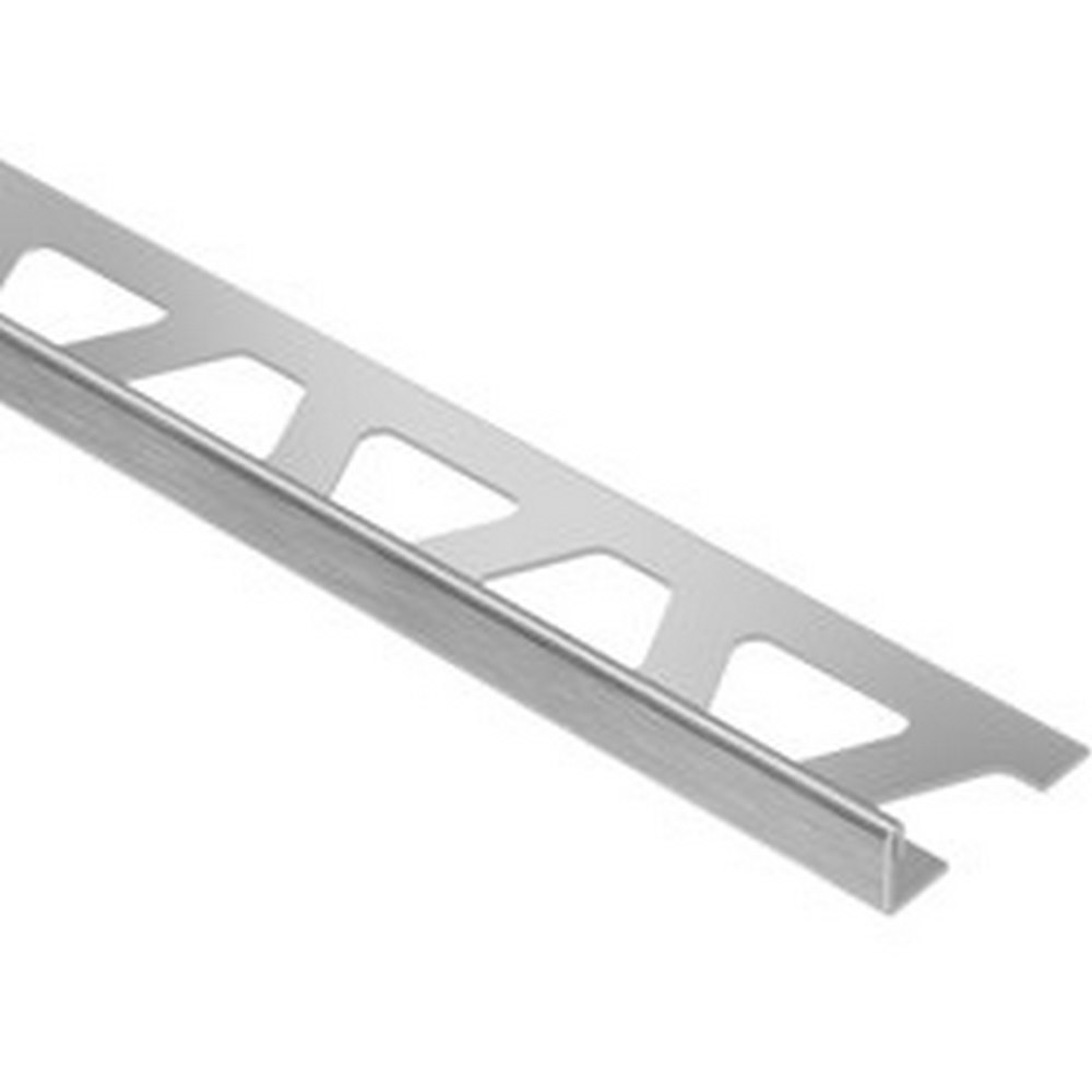 "Schluter Schiene E125-EB 1/2"" Brushed Stainless Steel Edge Trim"