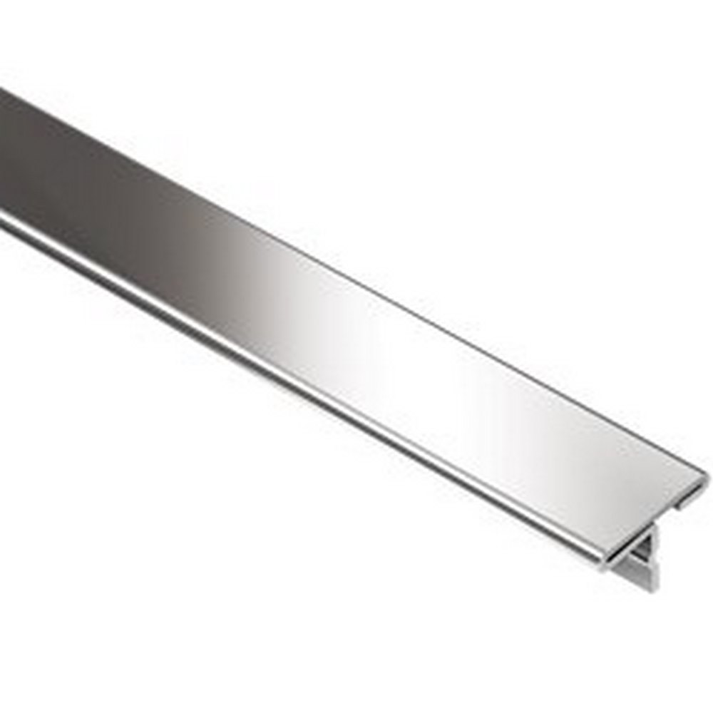 "Schluter Reno-T T9/14E 17/32"" Stainless Steel Edge Trim"