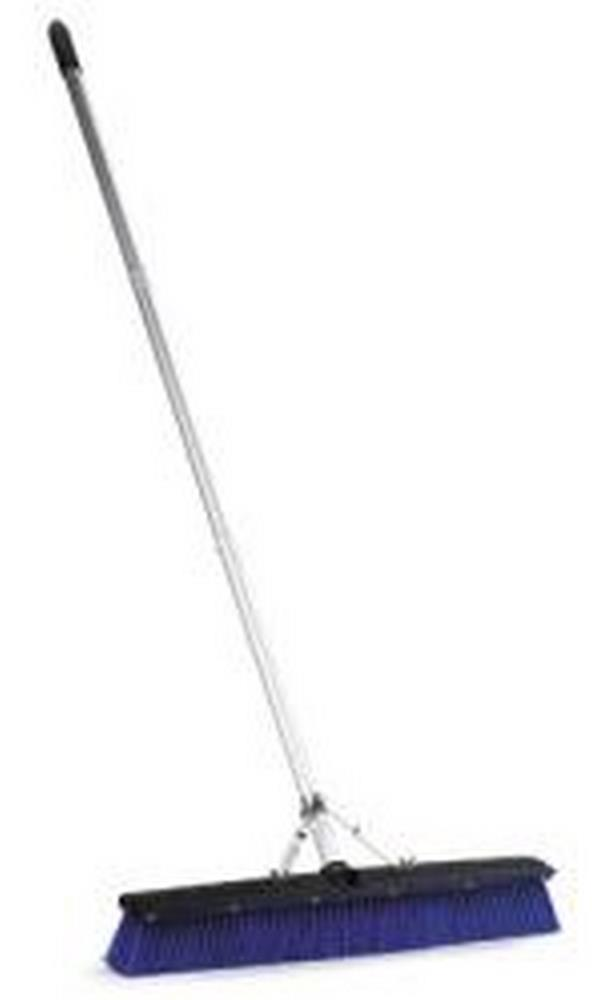 "Carlisle 3621962414 24"" Push Broom Complete W/Handle Brass & Squeegee"