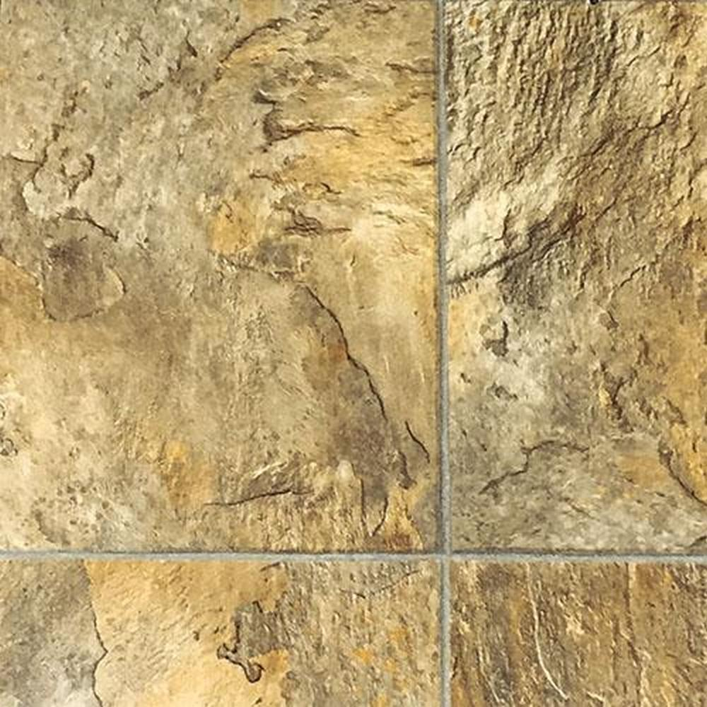 Truman II 12ft Sheet Vinyl Fiberglass Backing - Petrified