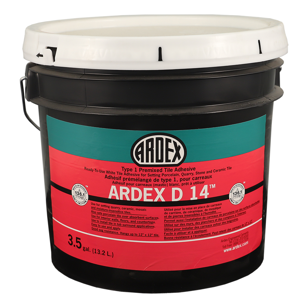 Ardex D 14 Type 1 Premixed Tile Adhesive (Mastic) - 1 Gal.