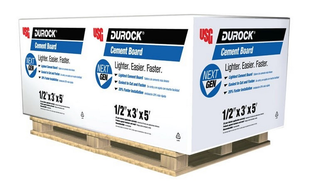 "USG Durock 1/2"" Cement Backer Board Underlayment ( 3' x 5' Sheet )"