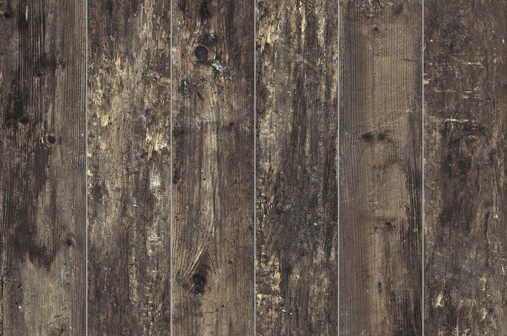 "Eko Wood 6"" x 36"" Glazed Porcelain Wood Tile-Wenge"