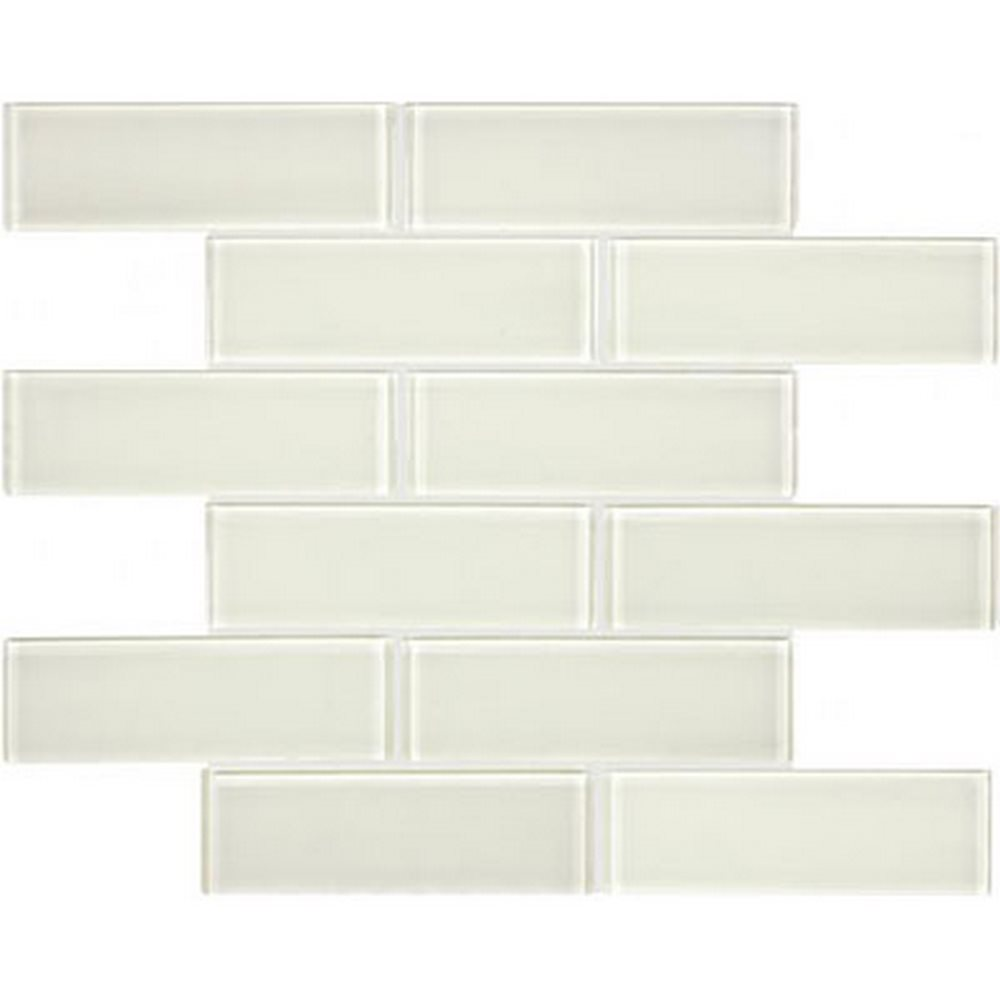 "Essentials Glass 2"" x 6"" Brick Mosaic-Sand"