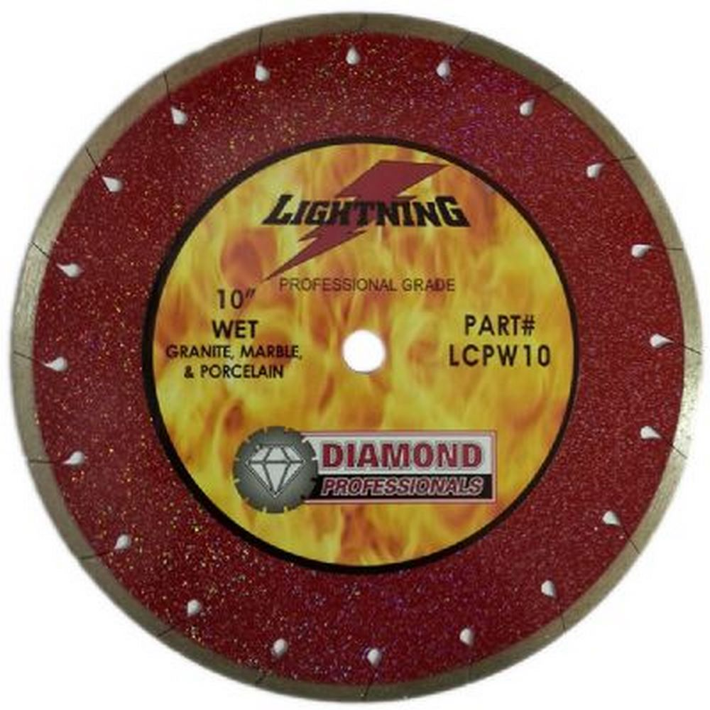 "Diamond Professionals LCPW10 Extreme Series Lightning 10"" Supreme Wet Saw Blade"