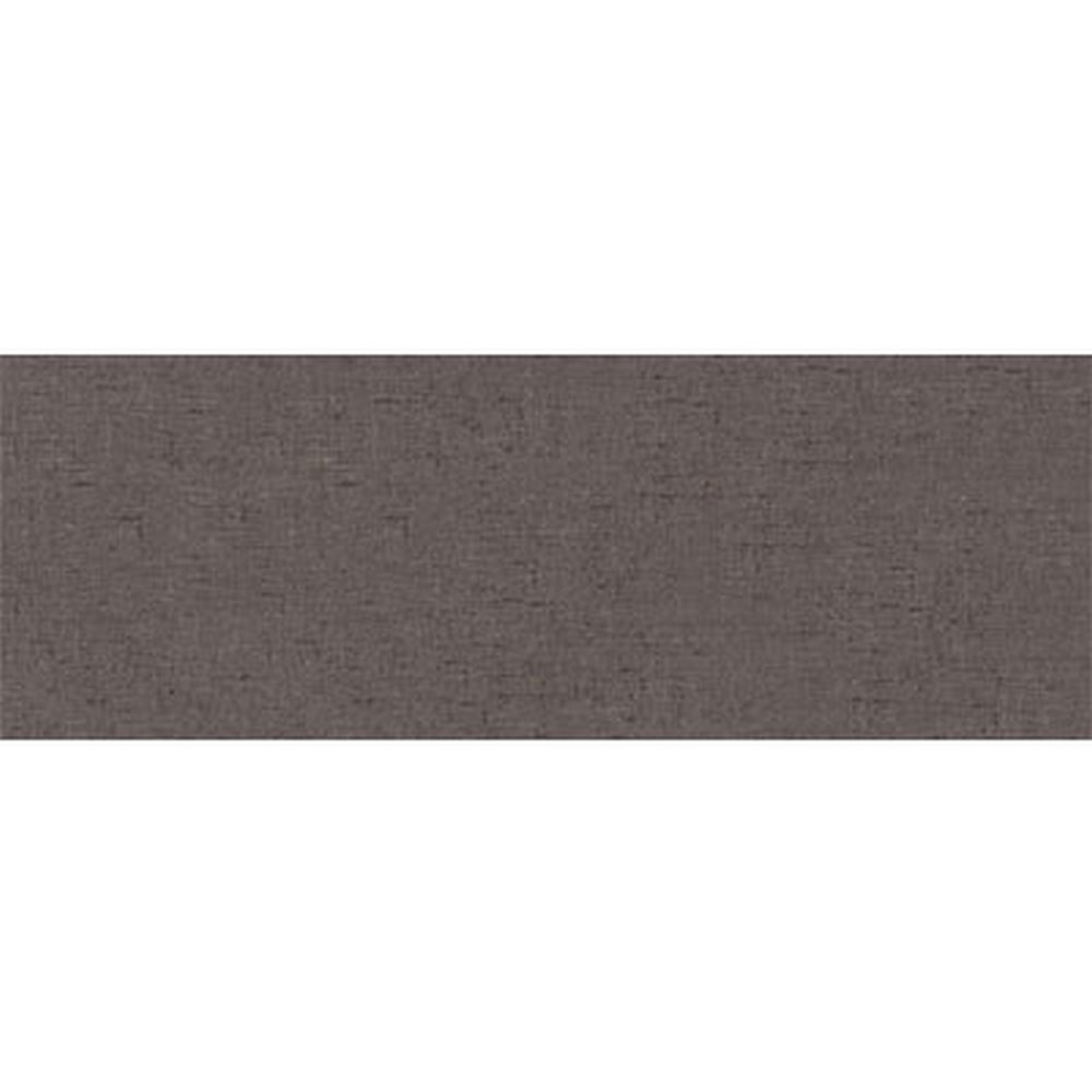 "Fabric 3"" x 10"" Glazed Ceramic Wall Bullnose-Carbon"