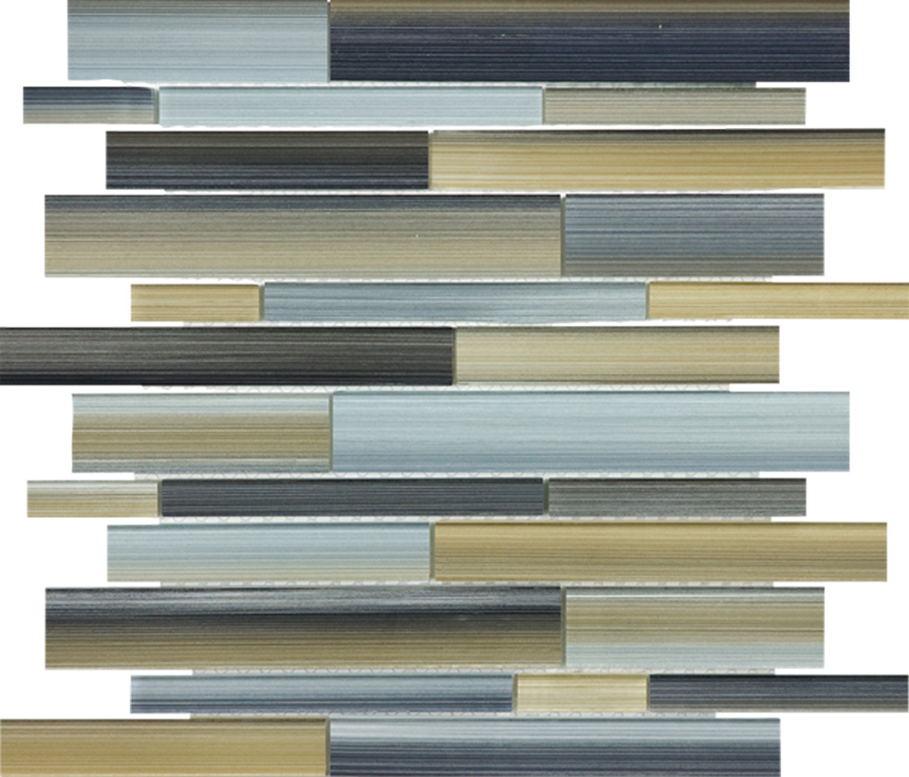 Fused Glass Random Strip Mosaic-Oxide