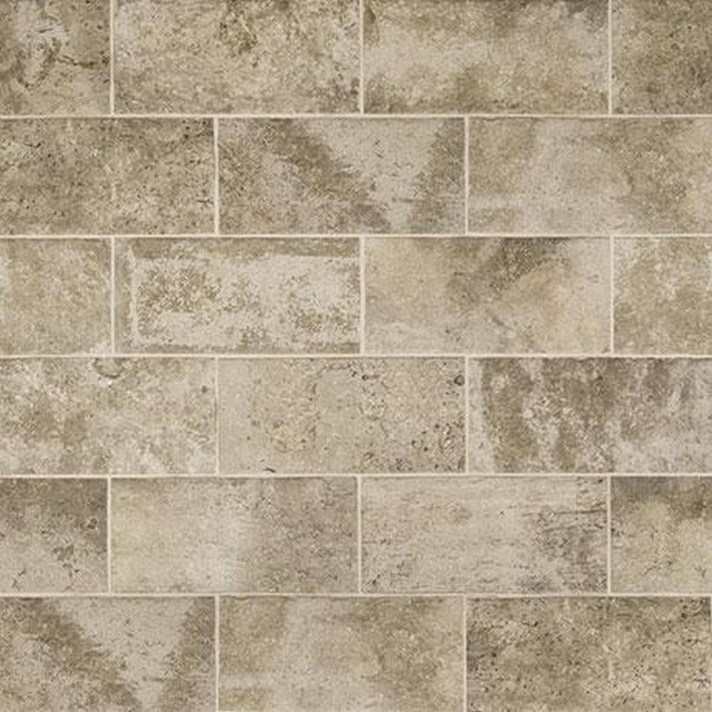 "Marazzi Urban District BRX 2"" x 8"" Glazed Ceramic Tile - Industrial BRX UD02 (Gray)"