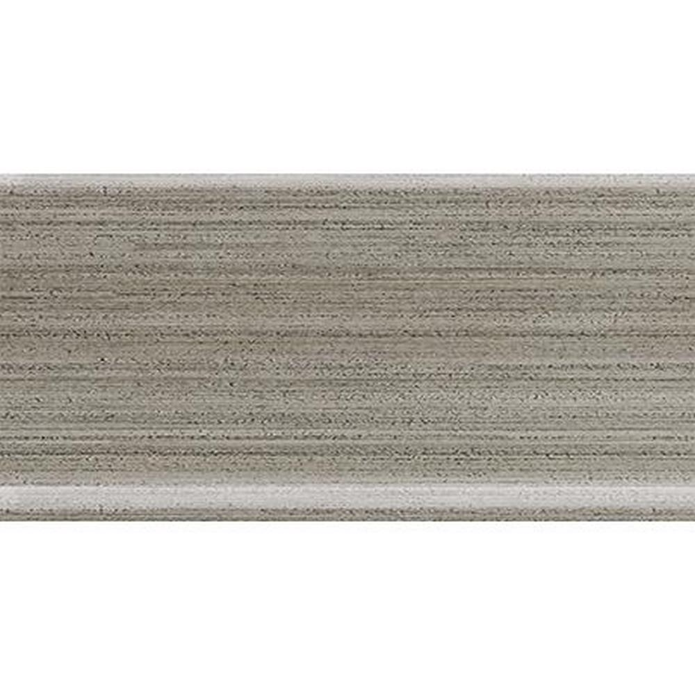 "Marazzi Lounge14 6"" x 12"" Color Body Porcelain Stoneware Coordinating Trim Cove Base - Sidecar ULH8 (Grey)"
