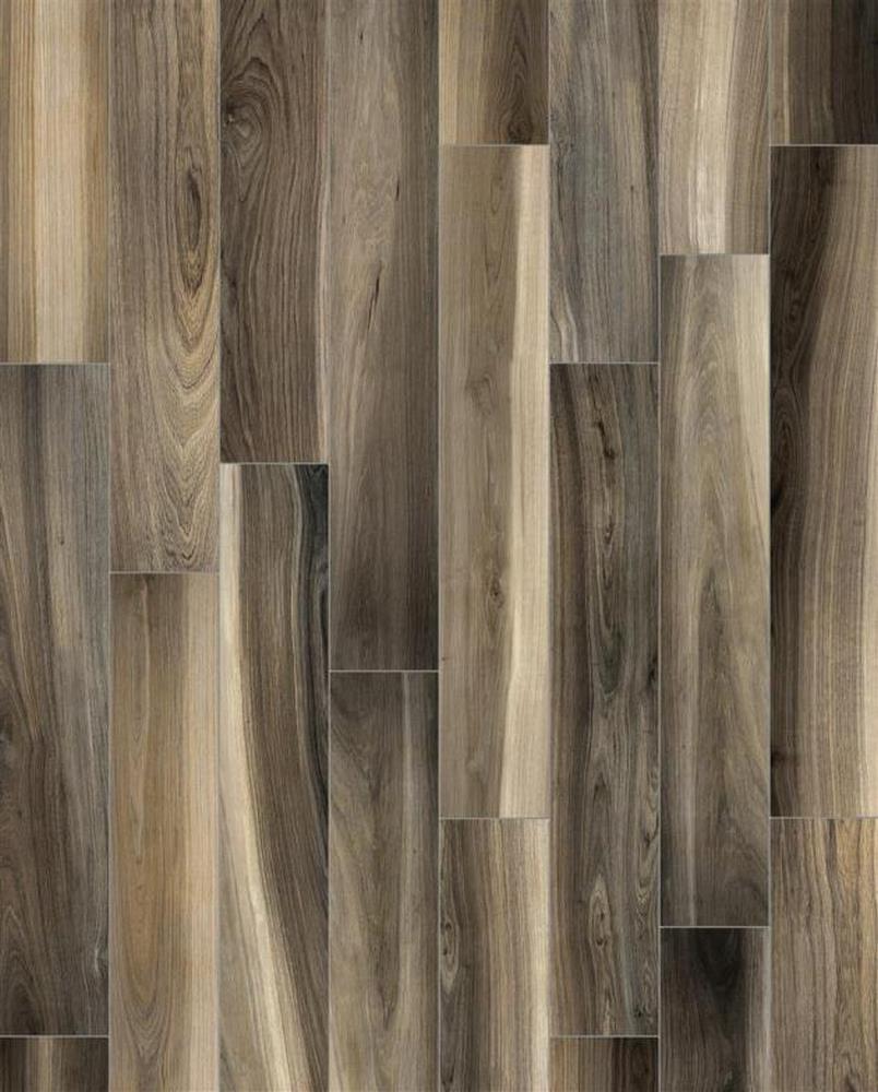 """Mayan 8"""" x 8"""" Glazed Porcelain Floor Tile-Tobacco"""