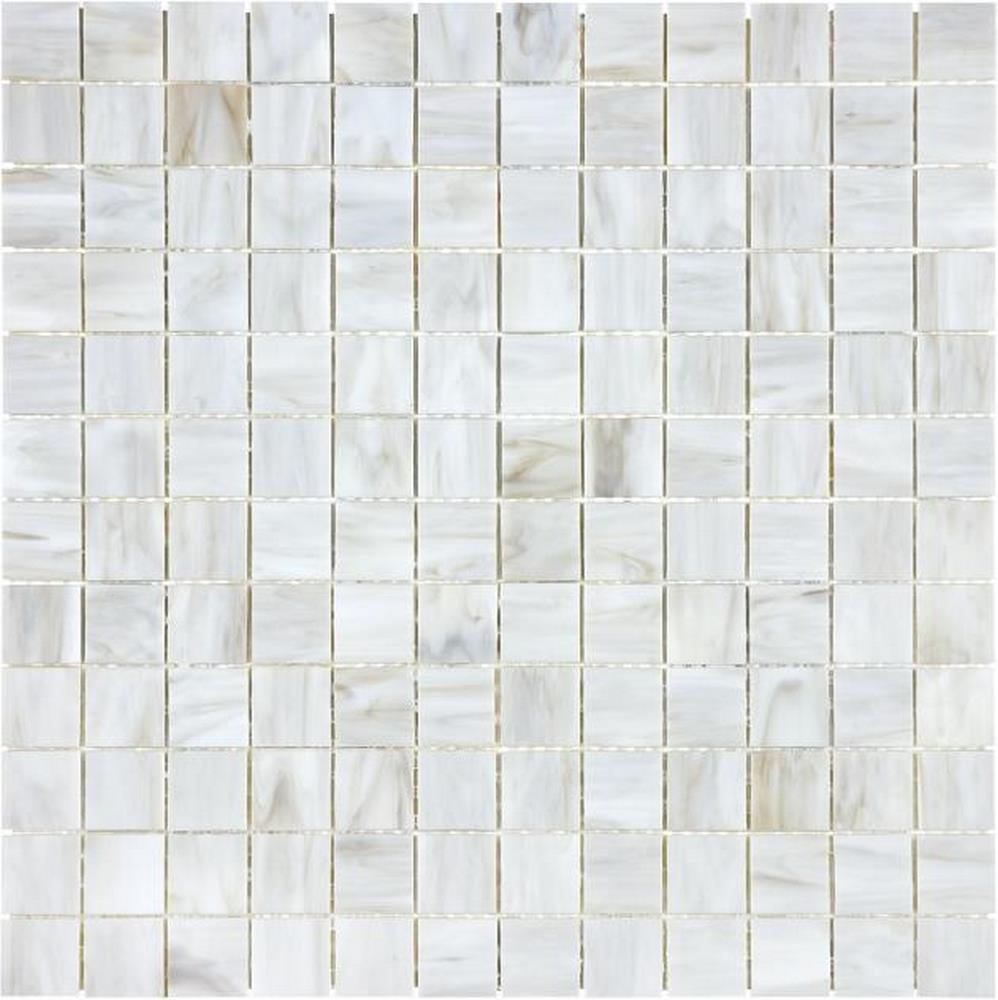 "Ornamental Glass 1"" x 1"" Mosaic-Calacatta"