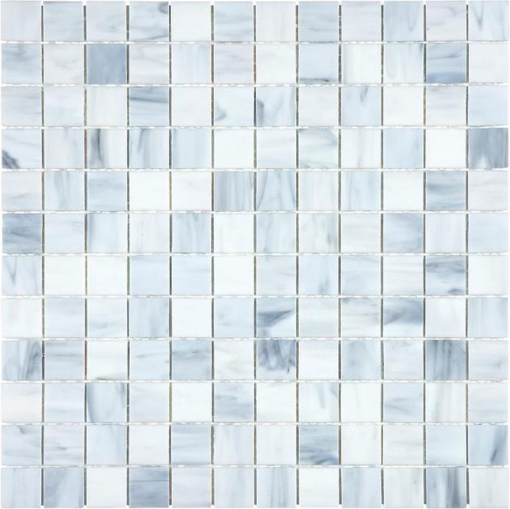 "Ornamental Glass 1"" x 1"" Mosaic-Carrara"
