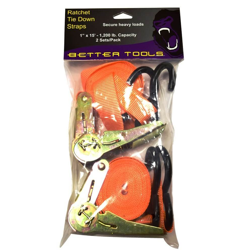 Better Tools BT325 Ratchet Tie Down Straps