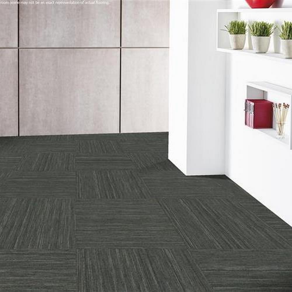"Independence 24"" x 24"" Solution Dyed Nylon Modular Commercial Carpet Tile -Freedom"