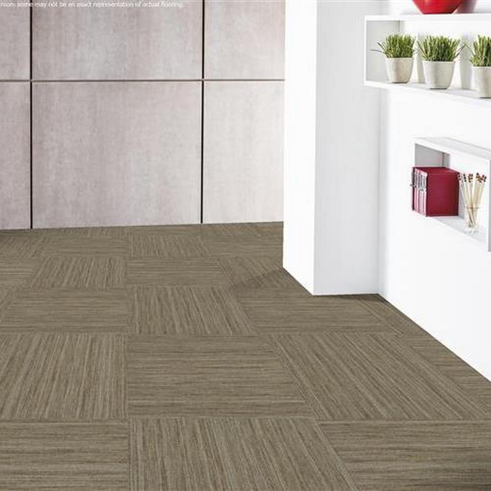 "Independence 24"" x 24"" Solution Dyed Nylon Modular Commercial Carpet Tile - Bravado"