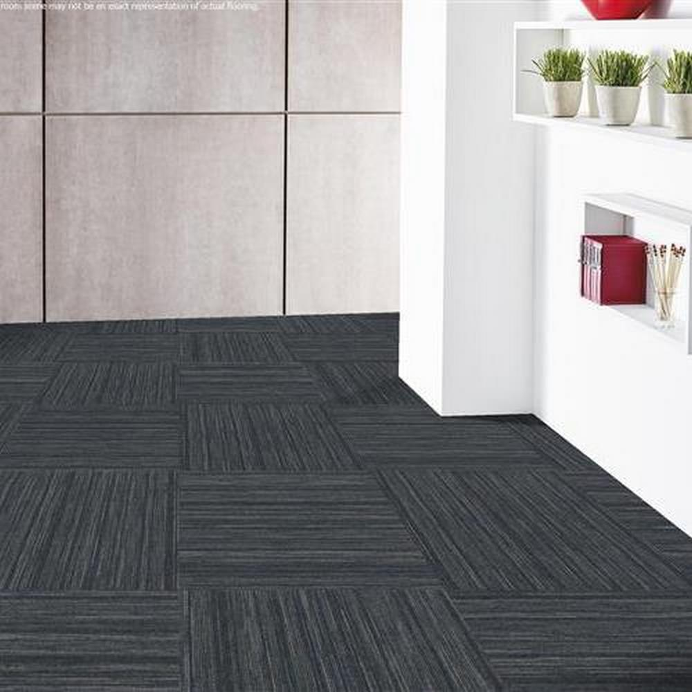 "Independence 24"" x 24"" Solution Dyed Nylon Modular Commercial Carpet Tile - Drive"