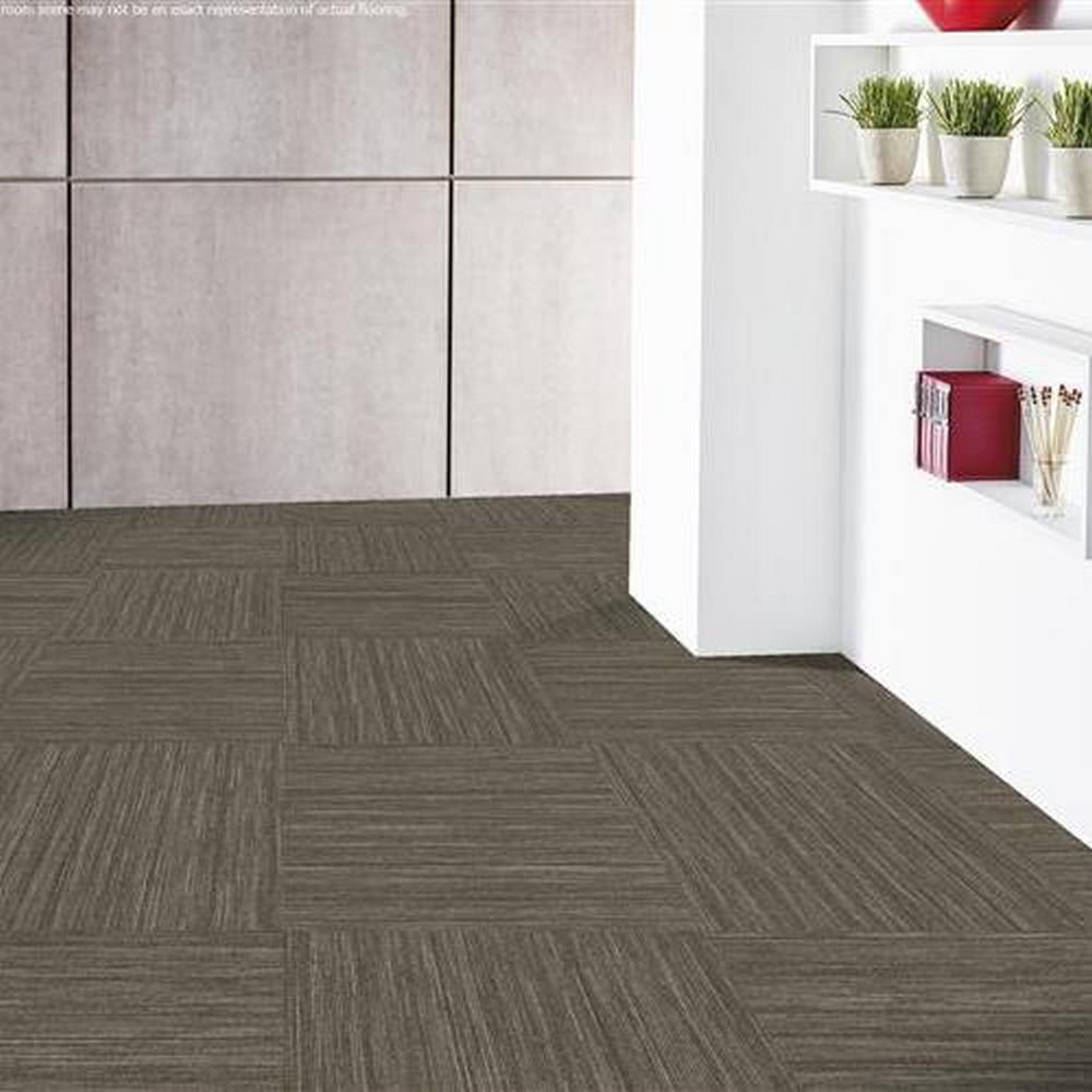 "Independence 24"" x 24"" Solution Dyed Nylon Modular Commercial Carpet Tile- Fortitude"