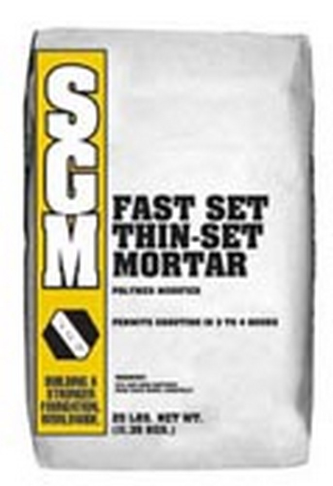 SGM Fast Set Thin-Set - Fast Setting Latex-Portland Cement Mortar - 25 Lb. Bag (Gray)