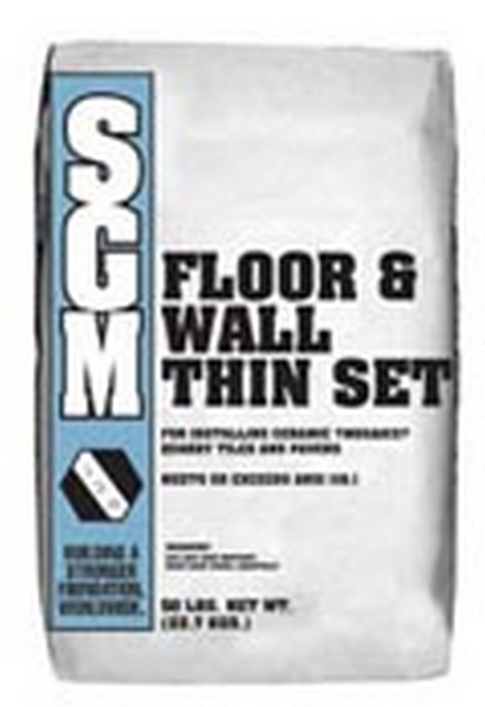 SGM Floor and Wall Thin-Set Mortar 50 Lb. Bag (726 Gray)