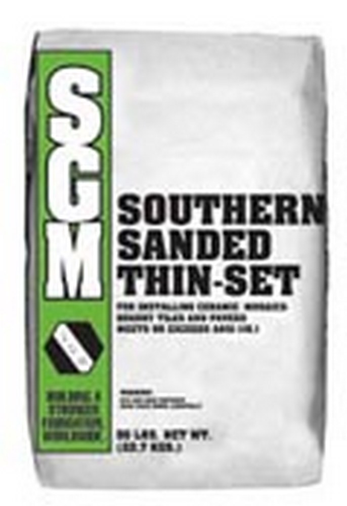 SGM Southern Sanded Thin-Set Mortar Dry-Set Mortar For Low Absorption Tiles - 50 Lb. Bag (737 Gray)