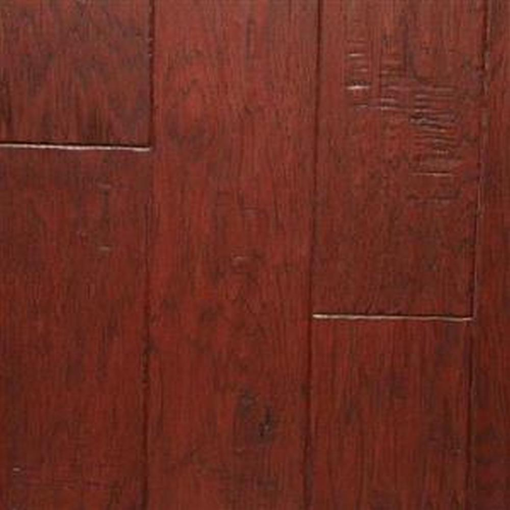 Bordeaux Handscrapped Random Lengths Hardwood Flooring - Hickory Buckeye
