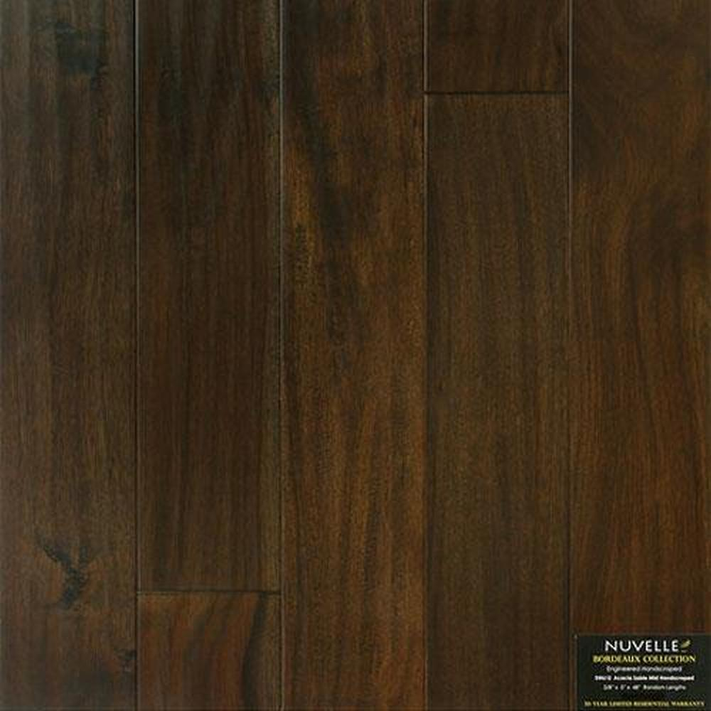 Bordeaux Handscrapped Random Lengths Hardwood Flooring - Acacia Sable Mist