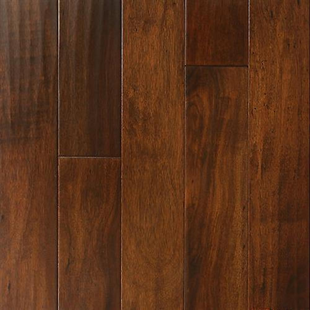 Bordeaux Handscrapped Random Lengths Hardwood Flooring - Acacia Aztec Tan