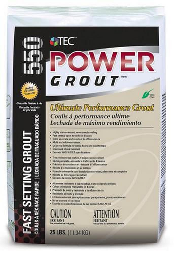 TEC 550 Power Grout Ultimate Performance Grout - 25 Lb. Bag
