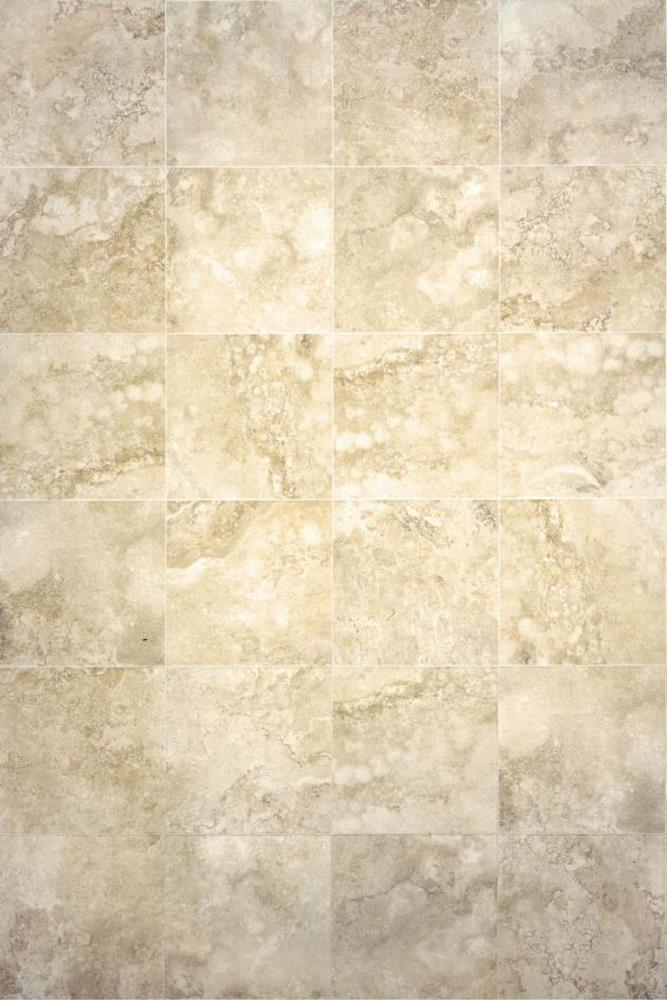 "Chesapeake Digital Travertine 2"" x 2"" on a 13"" x 13"" Sheet Glazed Ceramic Floor Tile Mosaic-Ivory"